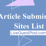 Free Article Submission Sites List