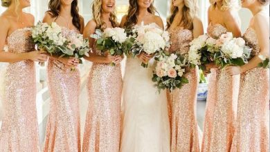 3 Necklines That Complement Rose Gold Bridesmaid Dresses